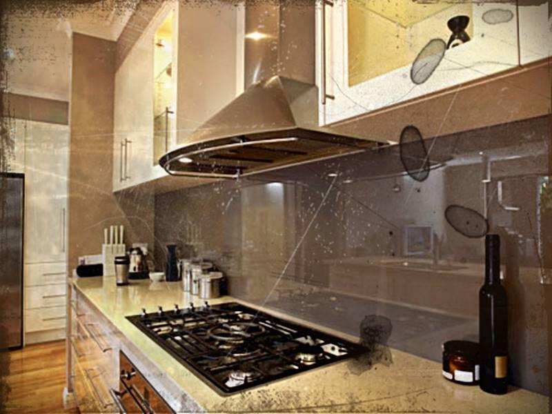 Desain Dapur Dengan Mesin Penyedot Asap