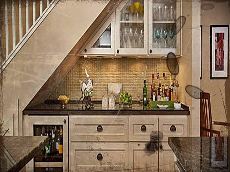 Desain Dapur Dibawah Tangga