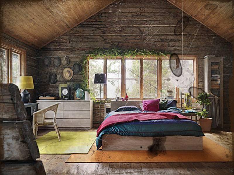 Desain Kamar Rumah Kayu Minimalis Sederhana