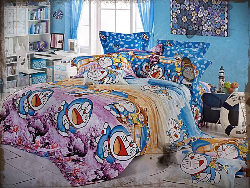 Desain Kamar Tidur Anak Doraemon Minimalis Sederhana