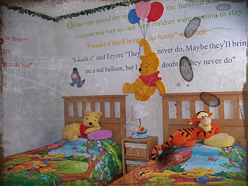 Desain Kamar Tidur Anak Winnie The Pooh