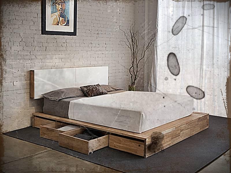 Tempat Tidur Minimalis Dengan Lemari