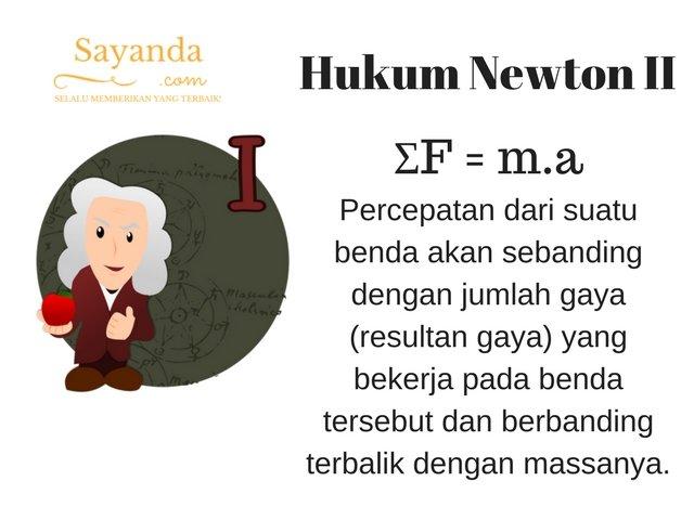 Hukum Newton II (Kedua)