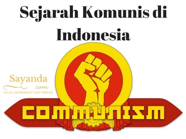 Sejarah Komunis di Indonesia