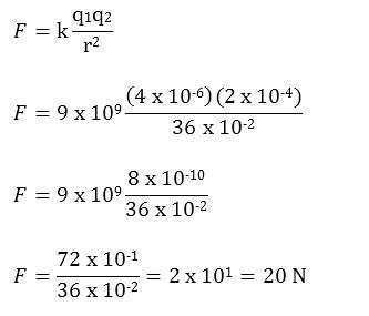 Jawaban Hukum Coulomb Pertama