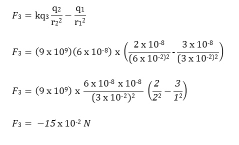 Jawaban Hukum Coulomb